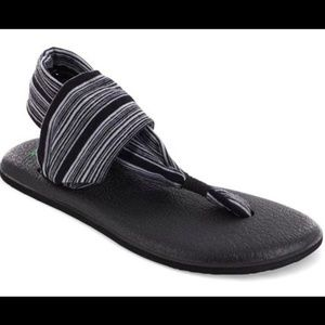 Sanuk Yoga Mat Sling Striped Thong Sandals